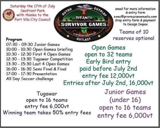 TITANFX Survivor Games - Wotz On Vanuatu 1