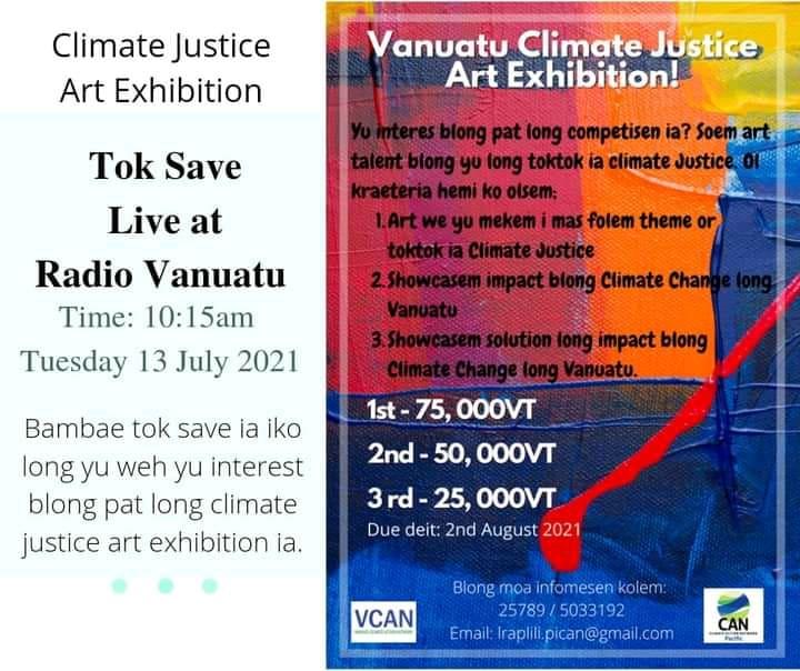 Vanuatu Climate Justice Arts Exhibition - Live Radio Vanuatu 15